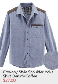 Cowboy Style Shoulder Yoke Shirt