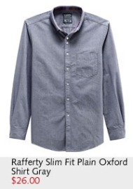 Rafferty Slim Fit Plain Oxford Shirt
