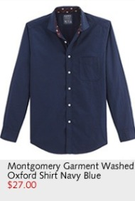 Montgomery Garment Washed Oxford Shirt