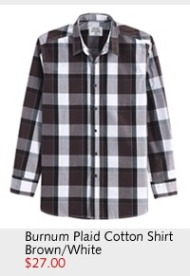 Burnum Plaid Cotton Shirt