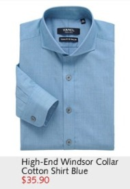 High-End Windsor Collar Cotton Shirt