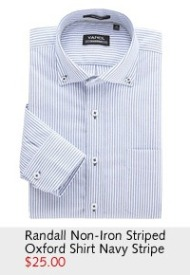 Randall Non-Iron Striped Oxford Shirt